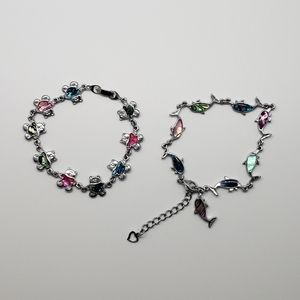 Teddy Bear & Dolphin Bracelets for Little Girls
